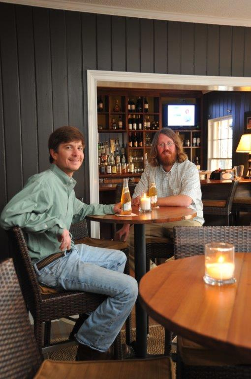 Stewbos Group owners Stewart Campbell (left) and Bo Henry compliment the hospitality services they offer at Merry Acres Inn & Event Center with three nearby restaurants -- each with it's own niche in the community.